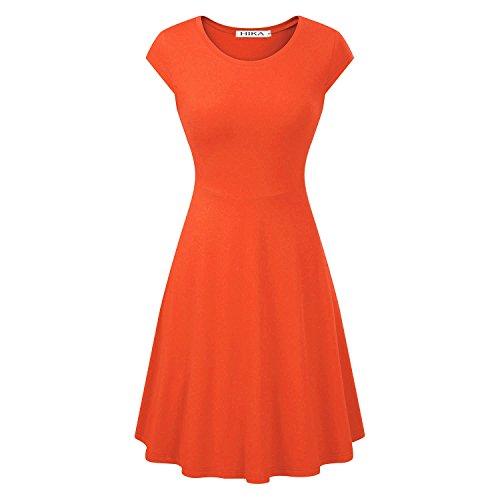orange a line dress - 3