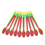 Baoblaze 30PCS Plastic Long Lab Spatula Spoon Drug Scoop, Sturdy, Stainless, and Resistant to acids and Bases