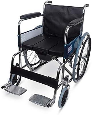 LUNYI Silla De Ruedas, con Orinal Portátil, Portátil, Anciano, Discapacitado, Caminante, con Freno