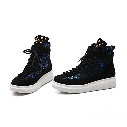 Women's Assorted Color Low-Heels Round Closed Toe Blend Materials Lace-Up Boots