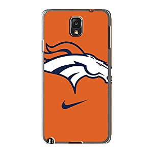 LeoSwiech Samsung Galaxy Note 3 Protective Hard Cell-phone Case Custom Beautiful Denver Broncos Logo Series [XoS27442gHQm]