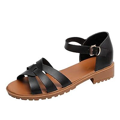 Lurryly Summer Water Sandals Women's Roman Sandals Belt Buckle Sandals Open Toe Shoes