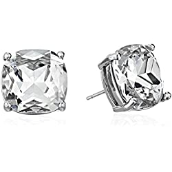 "kate spade new york""Essentials"" Silver-Tone Small Square Stud Earrings"