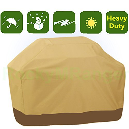 RockyMRanger-Patio covers Waterproof Heavy Duty BBQ Grill Cover Khaki Barbecue Gas Protector YQ5PB