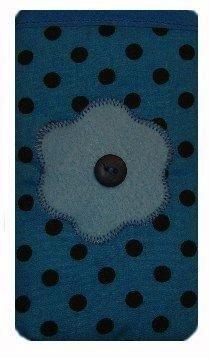 Hellblau Polka Dot Print Apple iPhone 5oder 5C oder 5S Socke/Case/Cover/Tasche