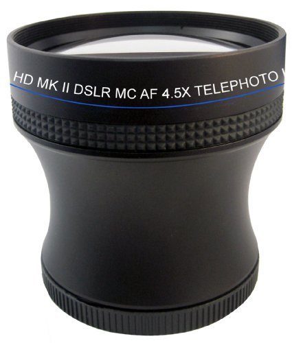4.5X Proffessional HD Mark II Special Edition Telephoto Lens For The Olympus OM-D E-M5, PEN E-PM2, E-PL5 Digital SLR Camera Which Have Any Of These ( 40-150mm, 14-150mm, 75-300mm) Micro Olympus Lenses