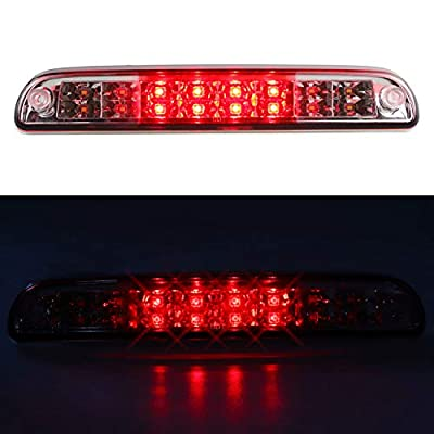 For Ford Explorer/F-250 F-350 Super Duty/Ranger/Mazda B series 3rd Third Brake Cargo Light Center High Mount Dual Row LED Lamp Tail Light Electroplating Housing (Red): Automotive
