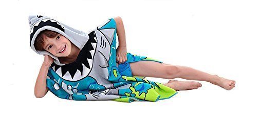 Surfer Dudes 3 Piece Set - Hank Toy, Shark Beach Towel, Shark Tooth Necklace by Surfer Dudes (Image #4)