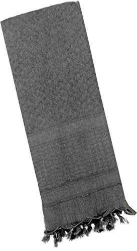 Rothco Solid Color Shemagh Tactical Desert Scarf, Grey