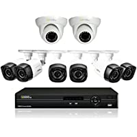Q-See Surveillance System QC908-8U7-2 8-Channel HD Analog DVR with 2TB Hard Drive, 8-720p Bullet/Dome Security Cameras (Black)