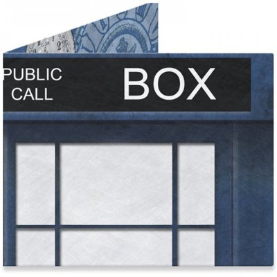 Dynomighty Men's Police Box 1 Mighty Wallet, Blue, One Size