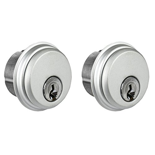 Global Door Controls Double Zinc Mortise Cylinder in Aluminum