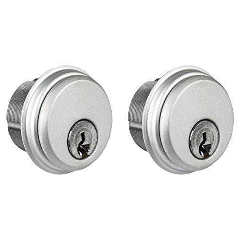 - Global Door Controls Double Zinc Mortise Cylinder in Aluminum