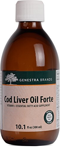 Genestra Brands - Cod Liver Oil Forte - Vitamin + Essential Fatty Acid Supplement - 10.1 fl oz (300 ml)