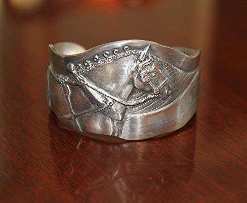 - Horse Lady Gifts cuff bracelets, Gentle Giant Draft Horse bracelet handmade by the artist USA