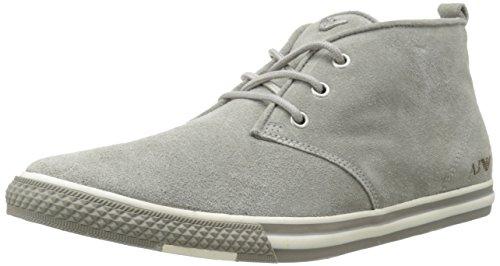 Armani Jeans Men's Suede Chukka Boot, Grey, 43 EU/9.5 M US