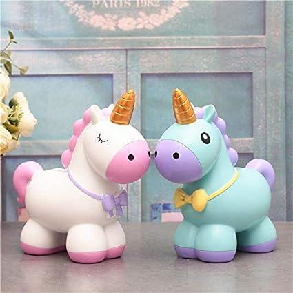 Amazon.com: Caja de dinero rosa de unicornio con diseño de ...