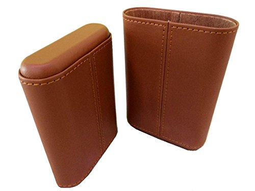 CiGuru CTT-L005 Three 3 Cigar Travel PU Leather Case Holder