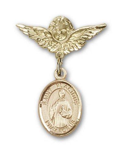 Icecarats Or Bijoux De Créateurs Rempli R. Broches Badge Placidus Charme D'Ange 1 X 3/4