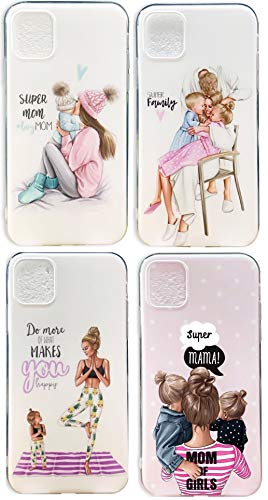 iPhone 11 Inspirational Quote Case Mom-Dad- Baby Girl-boy-Family - Silicone Case - Shockproof/Waterproof - Slim, Sleek Cover Design! - Compatible with All iPhone 11 Models- (iPhone 11 Pro- Momma Boy)