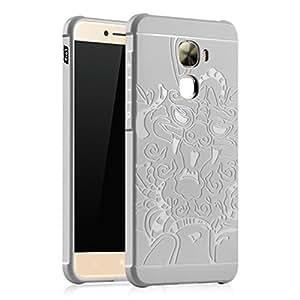 LeTV LeEco Le Pro 3 Case, LWGON Shockproof Silicone Protective Case for LeTV LeEco Le Pro 3 Dragon 3d Design Cases (3d grey)
