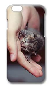 MOKSHOP Adorable cute little kitten Hard Case Protective Shell Cell Phone Cover For Apple Iphone 6 Plus (5.5 Inch) - PC 3D