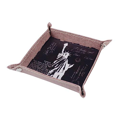 KathShop Black New York Statue of Liberty USA America PU Leather Mens Catchall Change Key Wallet Coin Box Storage Tray Valet by KathShop (Image #1)
