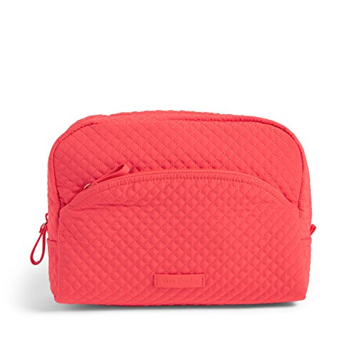 Vera Bradley Iconic Large Cosmetic, Microfiber, Coral Reef, One Size