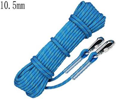 ZHWNGXO Sicherungsseil, Robust und langlebig 10.5mm Wear Resistant Enge Weaving leicht verknoten for Outdoor-Camping (Size : 30m)