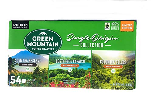 - Green Mountain Single Origin Collection-54 K Cups of Coffee