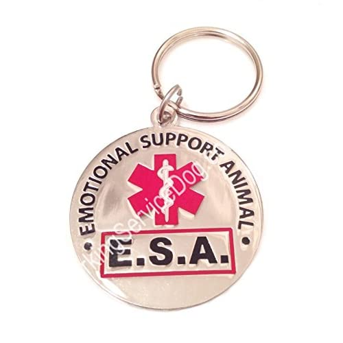"""Emotional Support Animal"" ESA Round ID Tag"