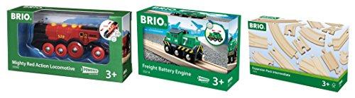 brio-train-bundle-containing-1-brio-mighty-action-locomotive-red-1-brio-freight-battery-engine-1-bri