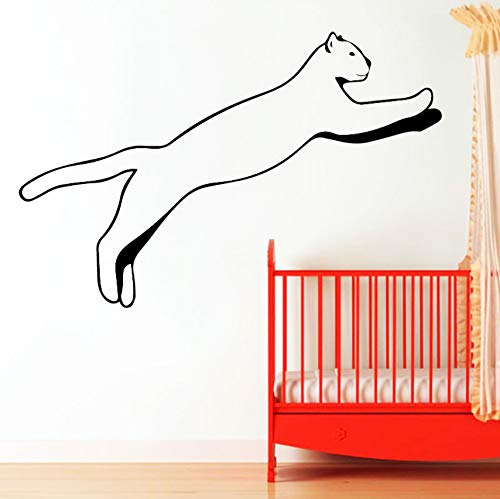 Pbldb DIY Swoop Cat PVC Wall Decals Home Decor for Kids Rooms Nursery Room Decor Wall Decal Home Decor 43X28Cm
