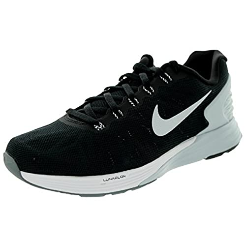 timeless design 2ce03 c8fec ... switzerland womens nike lunarglide 6 running shoe black pure platinum  cool grey white size 11 m