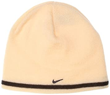 63009e338a0 Nike Unisex Knitted Beanie Hat Cream  Amazon.co.uk  Sports   Outdoors