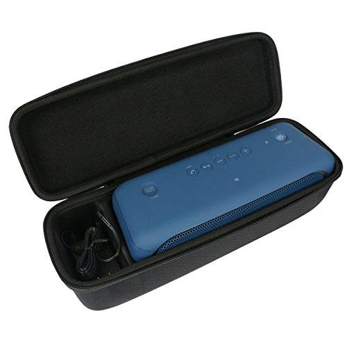 Khanka Case for Sony XB40 Portable Wireless Speaker with Bluetooth and Speaker Lights, Black (2017 model)