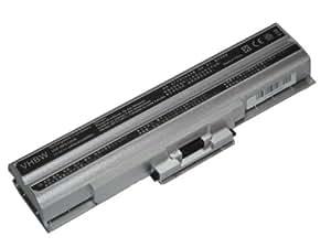 vhbw Li-Ion batería 4400mAh (11.1V) plata para Notebook Laptop Sony Vaio VGN-AW91CDS, VGN-AW91CJS, VGN-AW91CYS por VGP-BPL13, VGP-BPL21, VGP-BPS1.