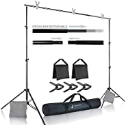 Julius Studio Photo Video Studio 10 ft. Wide Cross Bar 7.4 ft. Tall Background Stand Backdrop Support System K