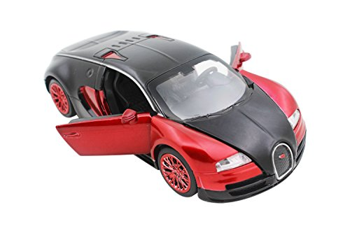 32 Scale Diecast Model (NuoYa001 New style 1:32 Bugatti Veyron Alloy Diecast car model collection light&sound Red by NuoYa)