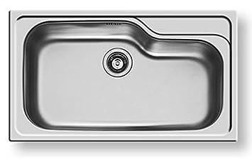 Lavello lavandino lavabo 86x50 inox 18/10 PILETTA 3,5\'\' vasca ...