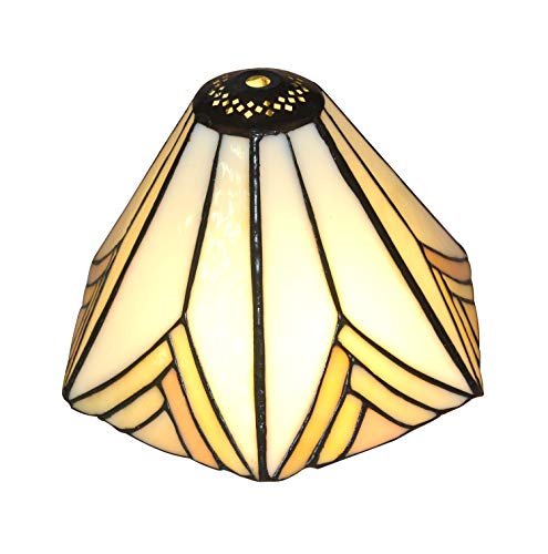 Stained Glass Shade - NOSHY Premium Tiffany SH-028 Hexagon Stained Glass Replacement Lampshade, 8.3