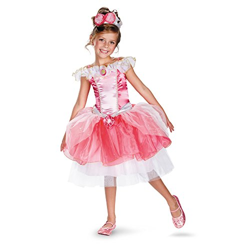 Disguise Girl's Disney Sleeping Beauty Aurora Tutu Prestige Costume, 4-6X
