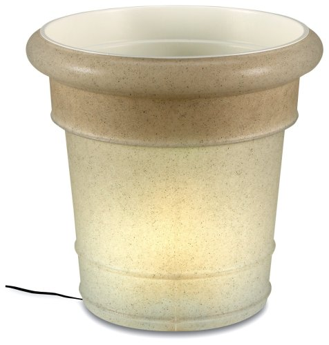 Gardenglo 886 Stone 120 Volt Planter, 20-inches Tall x 21-inches (Patio Living Concepts Resin Planter)