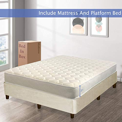7 inch quilted full mattress - 7
