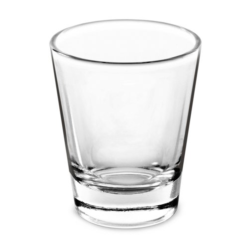 "True Shot Glass, 1.5"", Clear"