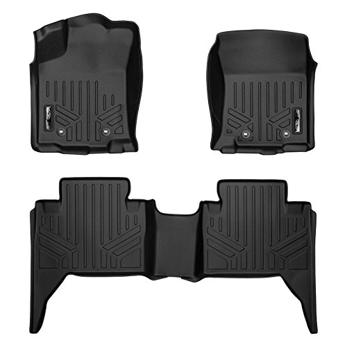 (MAXLINER Custom Fit Floor Mats 2 Row Liner Set Black for 2018-2019 Toyota Tacoma Double Cab)