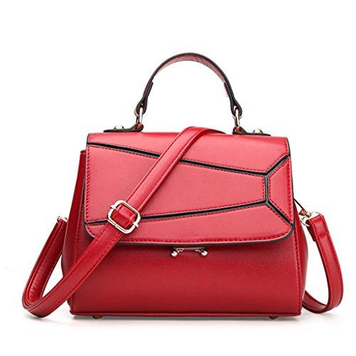 NVBAO Sacchetto di spalla del sacchetto del messaggero di modo della borsa della signora Sacchetto di acquisto della spalla singola Grande capienza Scompartimento multiplo, Red Red