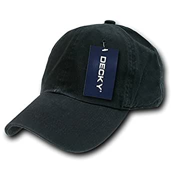 DECKY Washed Polo Cap, Black