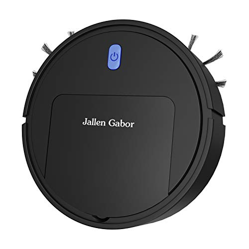 Jallen Gabor - Robot Vacuum for All Hard Floors. Super Slim, Light Weight, and Rechargeable. This Robotic Sweeping, Cleaning, Robot Will Make Your Life Easier, Cleaner, and Healthier!