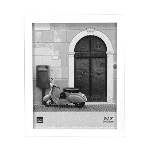 Kiera Grace Contempo Wood Picture Frame, 8 by 10 Inch, White by Kiera Grace